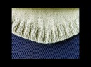 Закругленный низ вязанного изделия при вязании снизу вверх