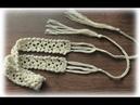 Вязаный ажурный пояс / Мк / Пояс крючком для юбки .