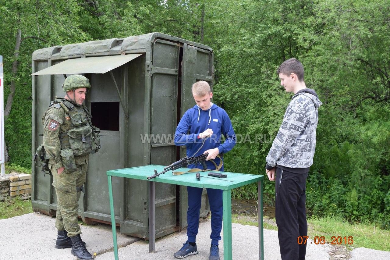 В Зеленчукском районе прошли учебно-полевые сборы с юношами 10-х классов общеобразовательных учреждений