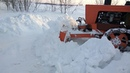 Расчистка снега на тракторе Т-54В Болгар.