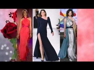 Самые красивые вечерние платья в пол 2018 - модные луки.