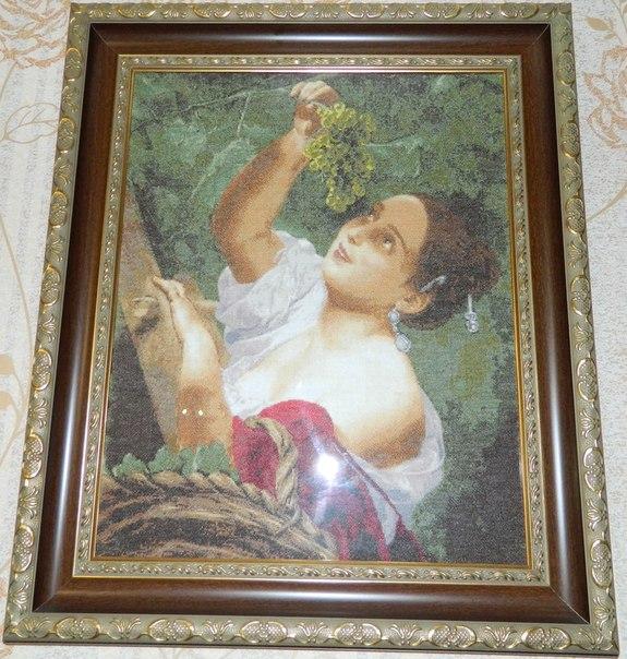 Продаю вышитую крестом картину