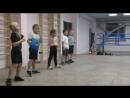 Тренировка юных боксёров, СК Троя Уфа, тренер Кирилл Москвин.
