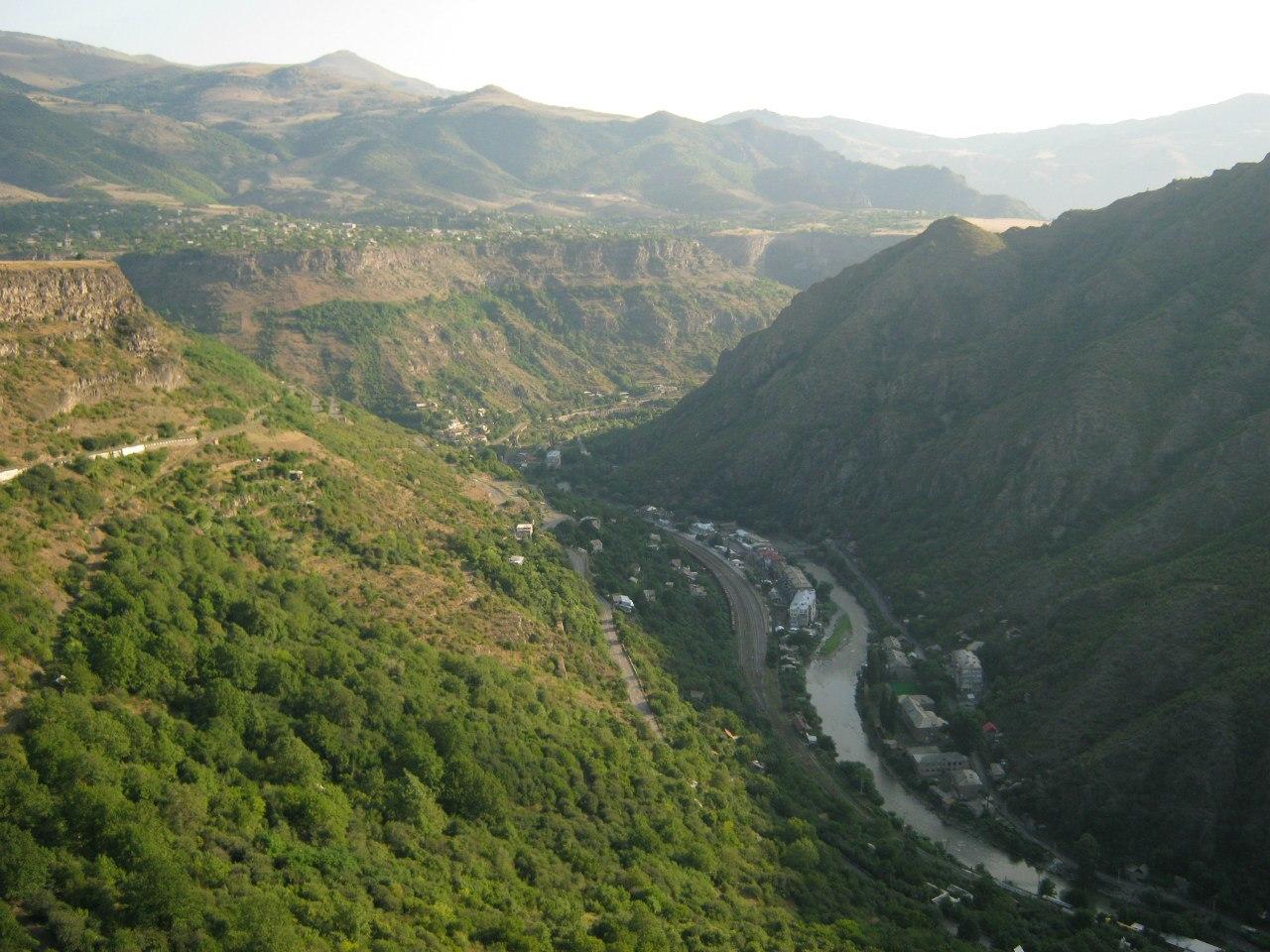 Вид на каньон Дебед из села Одзун