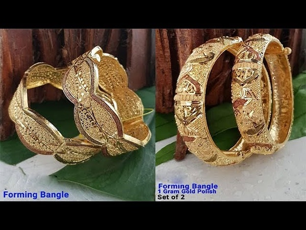 New Designer 1 Gm Gold Bangles Collection