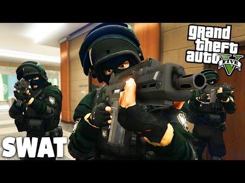 GTA 5 SWAT MOD - Anschlag auf Geheimdienst! - Deutsch - Grand Theft Auto V Polizei