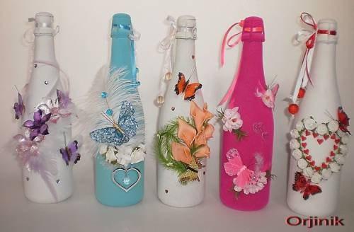 Как украсить красиво бутылку своими руками