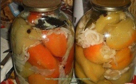 Фаршированные перцы с капустой.