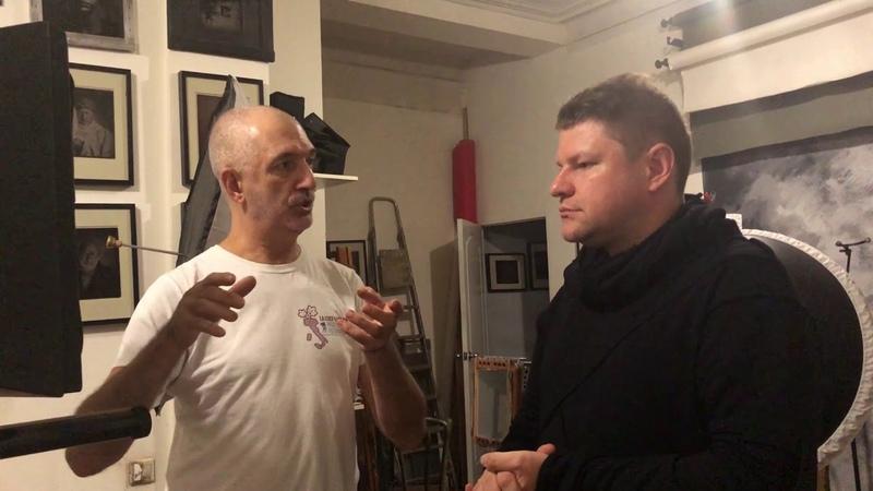 Александр Медведев в гостях у фотографа Михаила Бурлацкого - Амбротипия