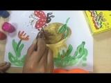 Рисуем Божью коровку на грибочке