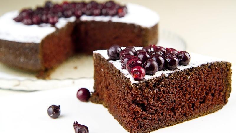 Пористый Шоколадный Пирог Постный Рецепт