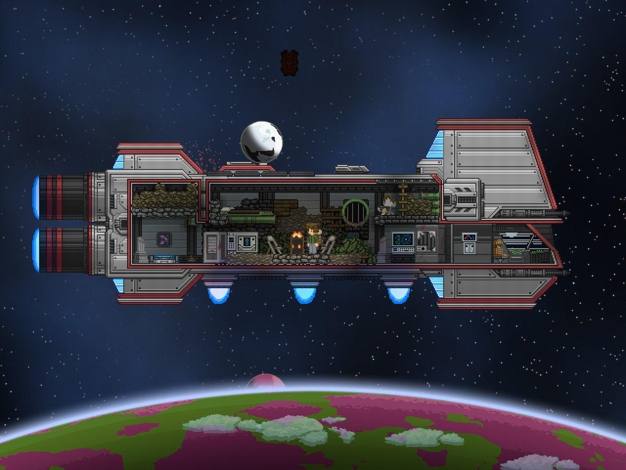 Необычное происшествие в Starbound.