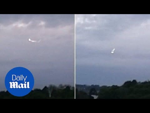 Shocking moment 'UFO' spotted hovering near High Wycombe RAF base