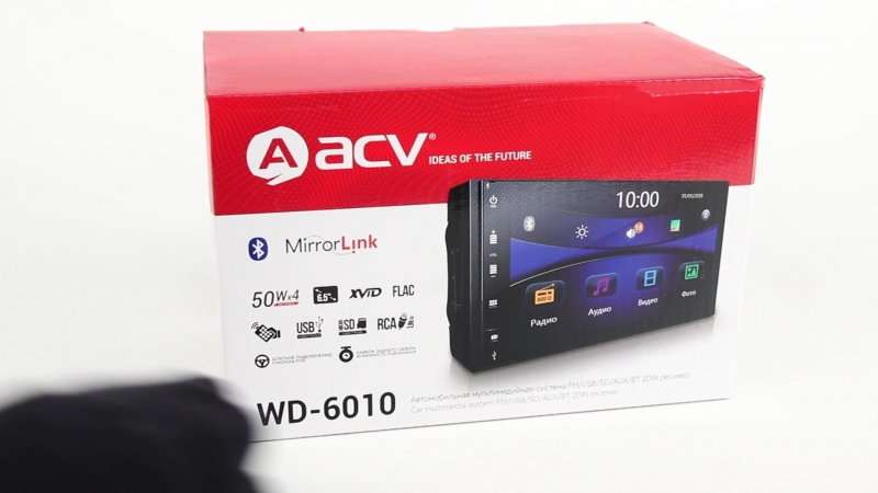 Новинка! Магнитола ACV WD-6010 с Bluetooth