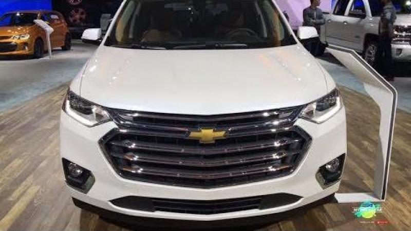 2018 Chevrolet Traverse SUV Exterior and interior Walkaround LA Auto Show