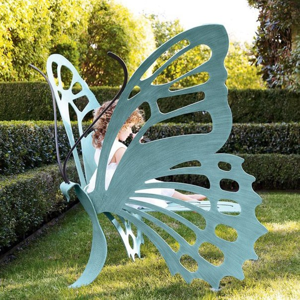 Скамейка-бабочка