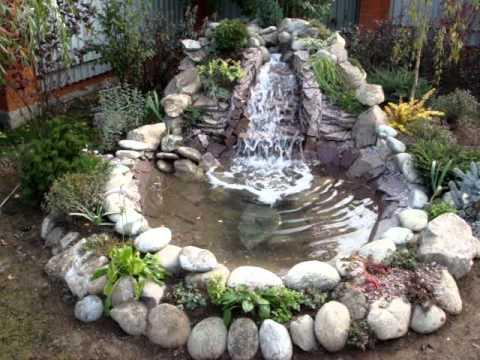 Водопад из камней своими руками фото