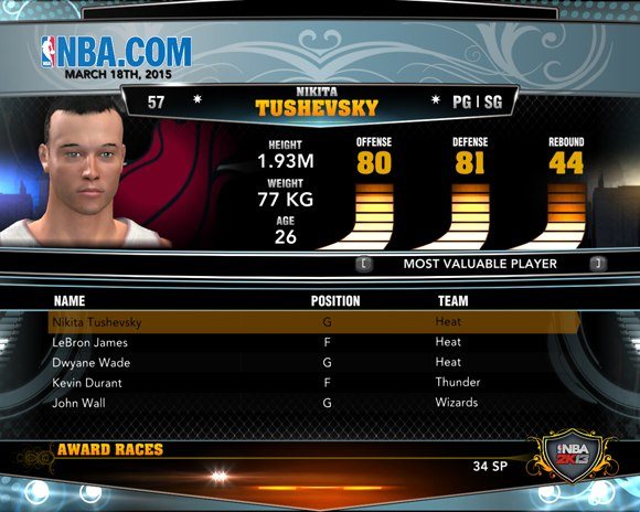 mvp rating nba2k13