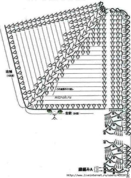 Схемы вязания крючком реглана.