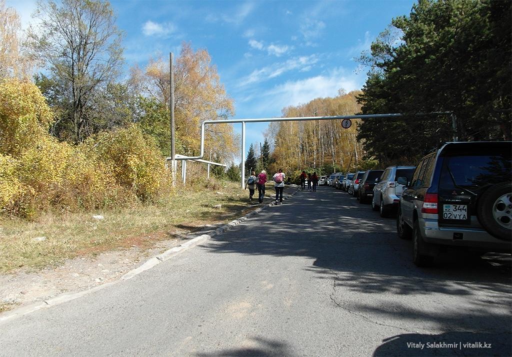 Бутаковка подъем от Медеу начало дороги
