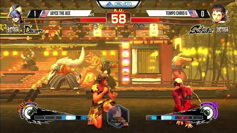 Jayce the Ace (Decapre) vs Chris G (Sakura) - EVO 2015 USF4 Pools - 720p/60fps