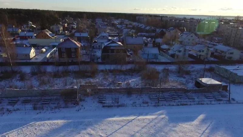 Посёлок имени Морозова с высоты птичьего полёта