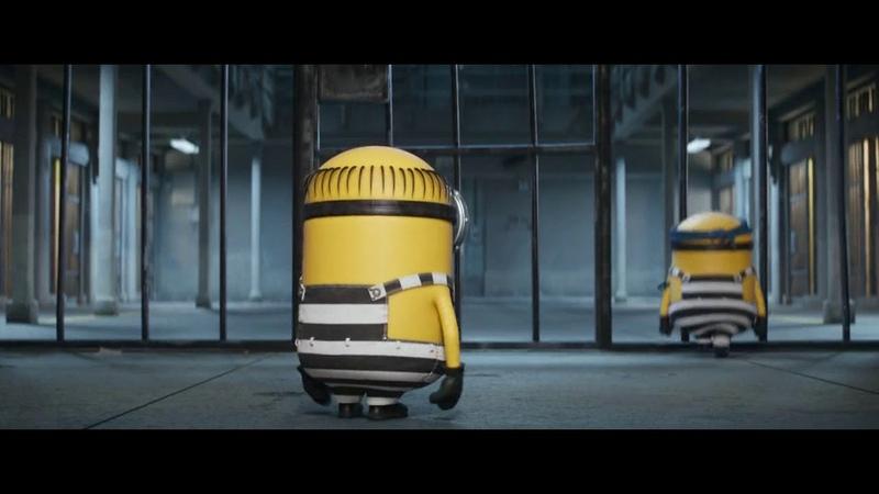 Despicable Me 3 minions in jail funny scene