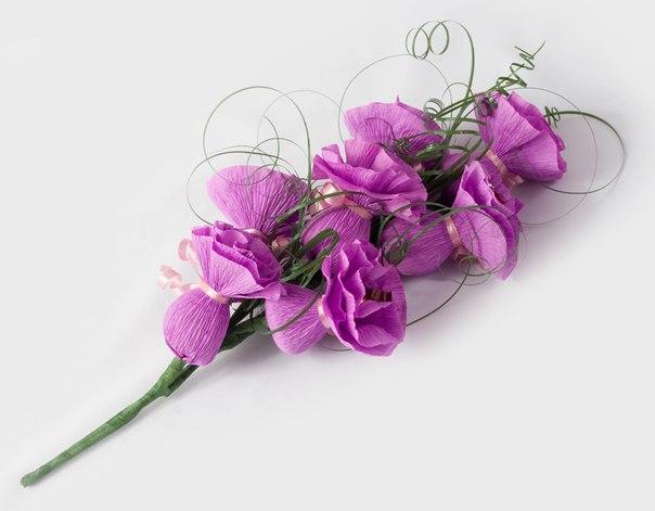 Фото роза из гофрированной бумаги своими руками