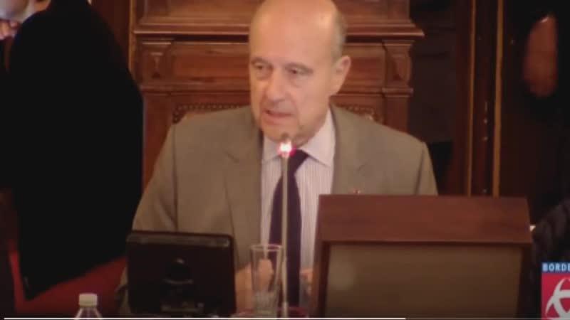 Juppé très en colère - François Jay intervient sur lantiracisme au CM de Bordeaux