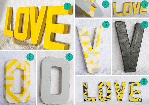 Как делать объёмные буквы