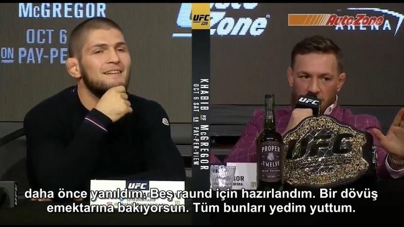 (TÜRKÇE) McGregor vs Khabib Basın Toplantısı