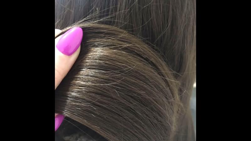 Как меняются кончики волос после полировки 😏
