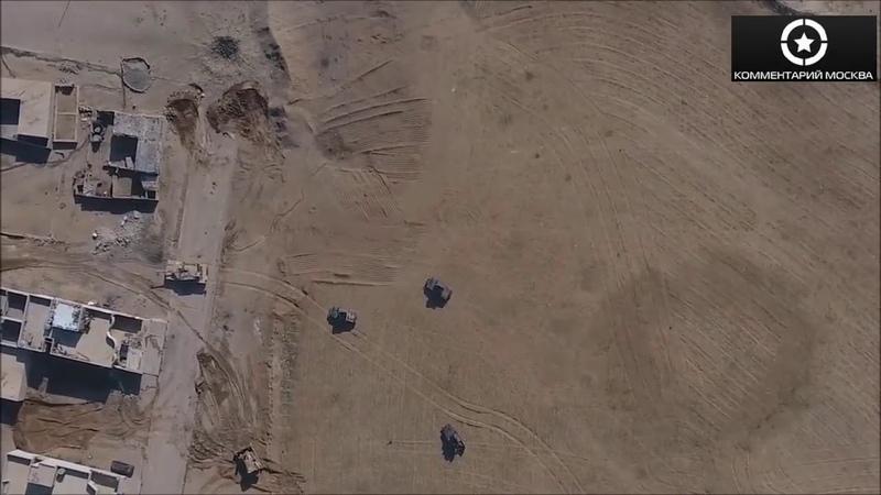 Прямое попадание с дрона в humvee с последующей детонацией боекомплекта