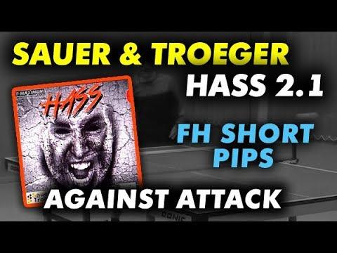 FH Short Pips - SauerTroeger HASS 2.1 mm, короткие шипы справа против нападающих