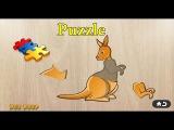 Puzzle animal 8 - золотая рыбка,кузнечик,еж,игуана,медуза,кенгуру,леопард,омар,