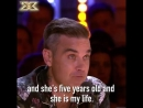 All the feels when @RobbieWilliams talks about his piano playing daughter ️ MondayMotivation XFactor