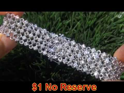 135 Diamonds - $36,000 9.11 Carat Diamond Tennis Bracelet Solid 18K Gold - Sex the City