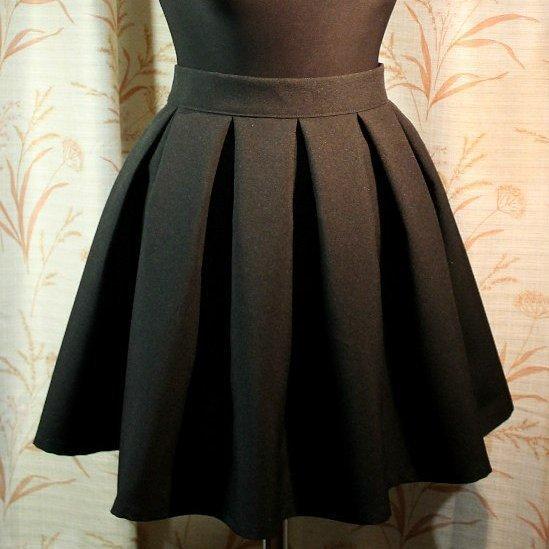 Как сшить юбку в крупную складку на поясе