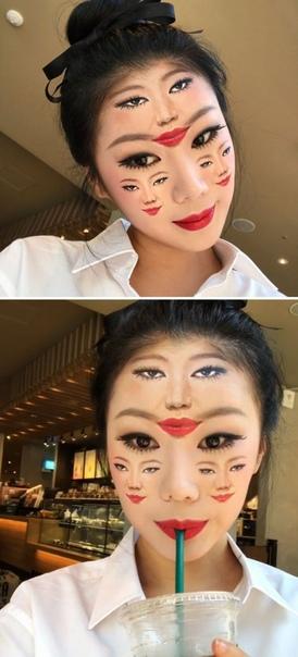 Новые сюрреалистические иллюзии на лице талантливой южнокорейской визажистки Границу между иллюзией и реальность можно размыть, и этим мастерством отлично владеет визажистка Даин Юн (Dain Yoon)