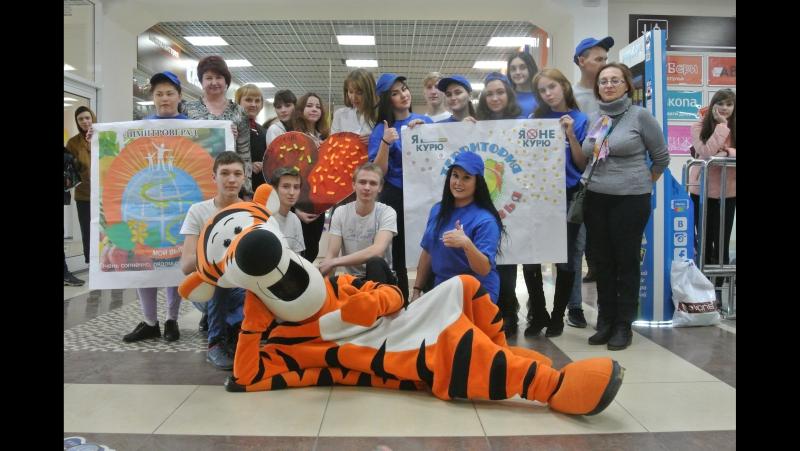 ДТК волонтёрский оряд Юность и студенты ДТПТ в ТРЦ Прага, г.Димитровград