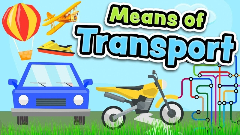 Means of transport in English for kids - Vehicles vocabulary