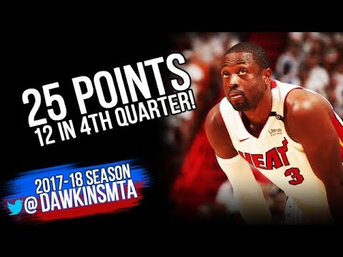 Dwyane Wade Full highlights 2018 ECR1 Game 4 76ers vs Heat - 25 Pts, 12 in 4th QTR!| FreeDawkins