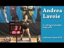 Andrea Lavoie - 54 reps in long cycle with 2 x 24 kg kettlebells California Open, 2018