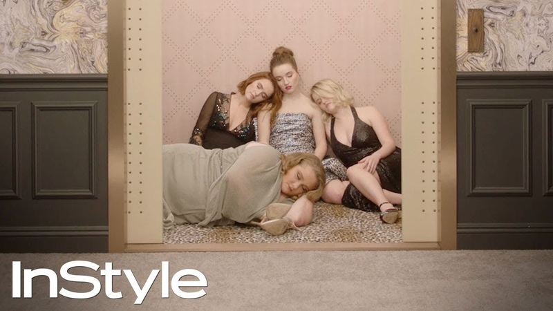 Zoey Deutch, Danielle Macdonald, Mady and Kaitlyn Dever | 2019 Golden Globes Elevator | InStyle