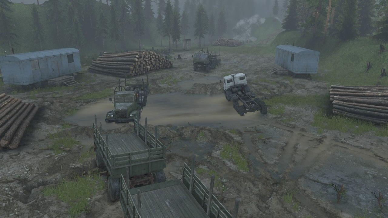 """Карта """"Тяжелый путь-2"""" для 25.12.15 для Spintires - Скриншот 2"""