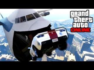 GTA 5: Online - Sick Cargo Plane Stunts & BUSTED! | 28th Jan. 2014