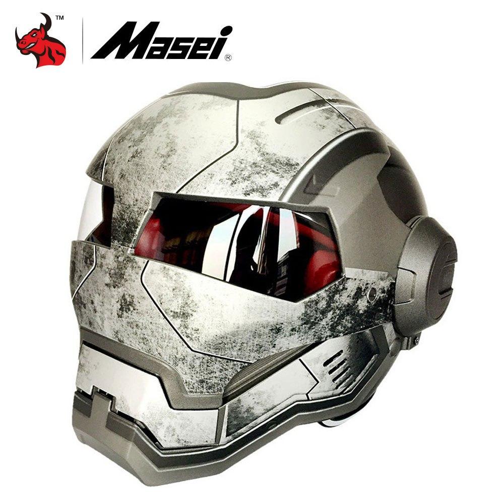 Мотоциклетный шлем Железный человек -