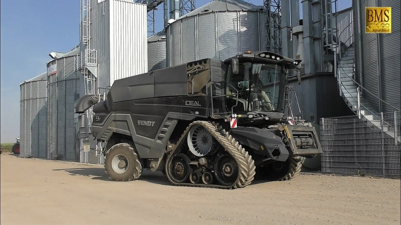 Großmähdrescher Fendt IDEAL 9T - 12,2 m on Tour in Germany - new biggest combine Fendt wheat harvest