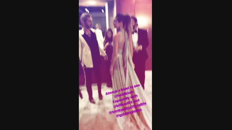 Kaulitz Twins Heidi Klum at the Golden Globes After-Party - 06.01.2019