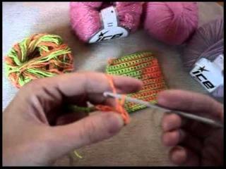 Урок 1 Вязание крючком. Вязание цепочки из воздушных петель и столбики без накида.